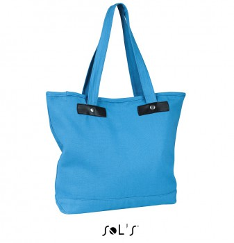 Torba Canvas Shopping Chick blekitna B10