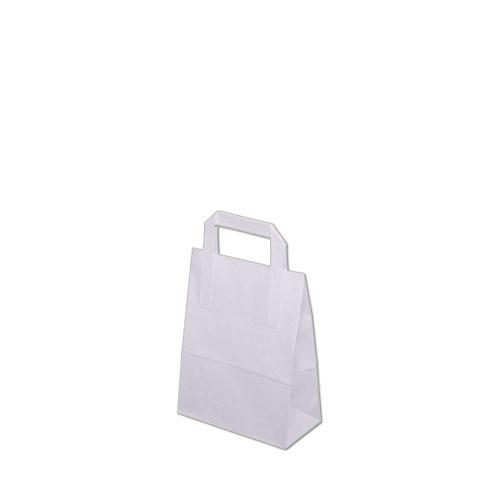 Torebka papierowa biala 180x90x230 mm