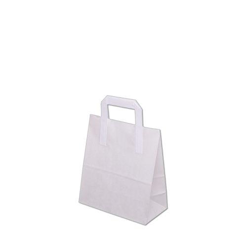 Torebka papierowa biala 220x110x245 mm