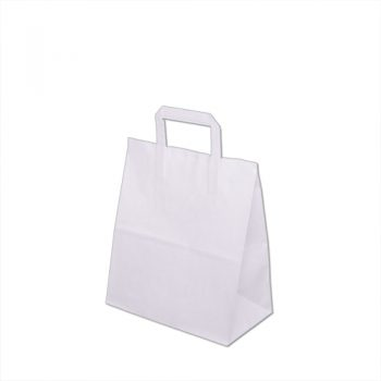 Torebka papierowa biala 260x140x300 mm