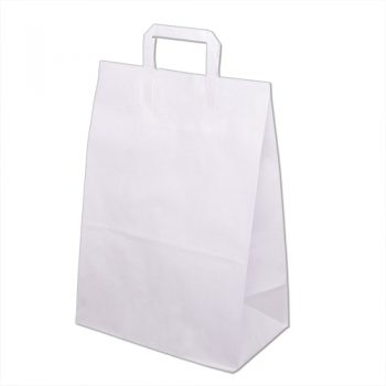 Torebka papierowa biala 320x160x430 mm