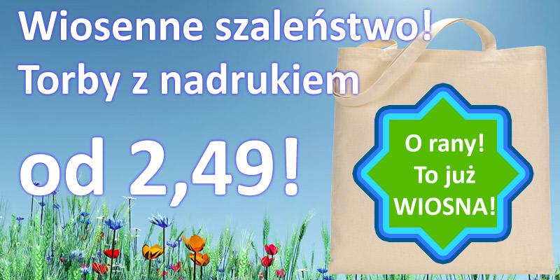 Promocja na torby ekologiczne wiosna 2015