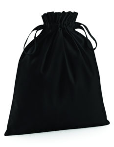 Czarny bawełniany woreczek