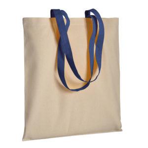 Gruba torba bawełniana z uszami granatowymi