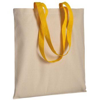 Gruba torba bawełniana z uszami żółtymi