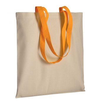Gruba torba bawełniana z uszami pomarańczowymi