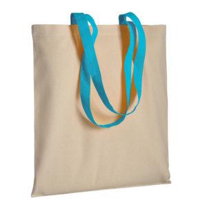 Gruba torba bawełniana z uszami niebieskimi