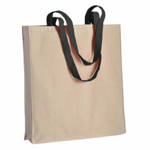Duza gruba torba bawelniana z kolorowymi uszami czarna
