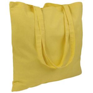 Gruba torba bawełniana żółta