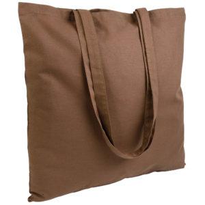 Gruba torba bawełniana brązowa