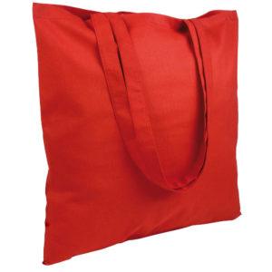 Gruba torba bawełniana czerwona