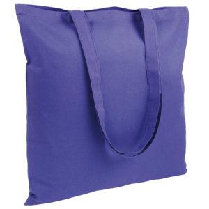 Gruba torba bawełniana fioletowa