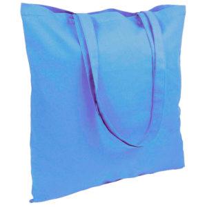 Gruba torba bawełniana jasnoniebieska