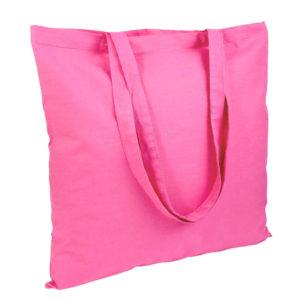 Gruba torba bawełniana jasnoróżowa
