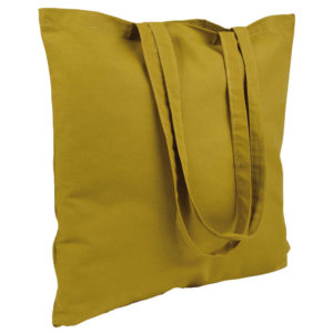 Gruba torba bawełniana musztardowa