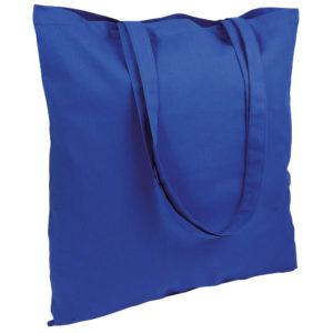 Gruba torba bawełniana niebieska