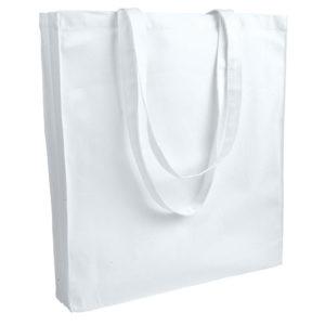Gruba torba bawełniana z dnem i bokami biała
