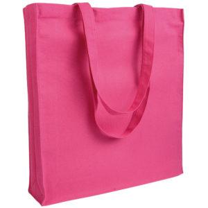 Gruba torba bawełniana z dnem i bokami różowa