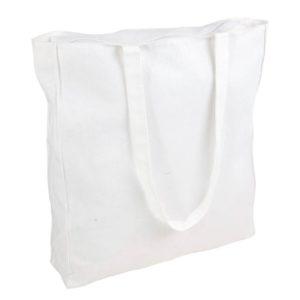 Duża torba bawełnina Promo B23 z zamkiem biała
