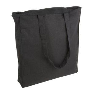 Duża torba bawełnina Promo B23 z zamkiem czarna