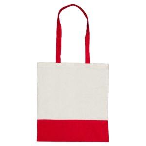 Dwukolorowa torba bawełniana czerwona
