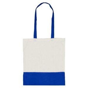Dwukolorowa torba bawełniana niebieska