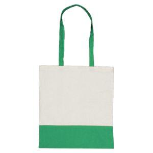 Dwukolorowa torba bawełniana zielona