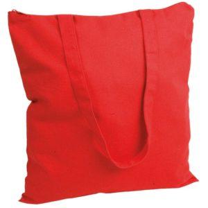 Torba bawełniana z zamkiem Promo B22 czerwona