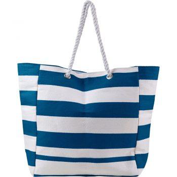 Bawełniana torba plażowa w stylu marynarskim niebieska