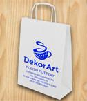 Torba papierowa biala DekorArt