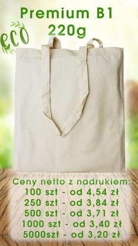 Torba bawełniana ekologiczna z nadrukiem Premium B1 Torby