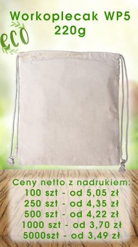 Worek plecak ekologiczny z nadrukiem WP5